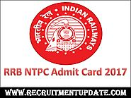 RRB NTPC Admit Card