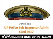 UP Police Sub Inspector Admit Card