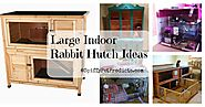 Large Indoor Rabbit Hutch And Accessories