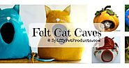 Felted Cat Caves: Whimsical Sculpted Cat Bed Ideas