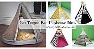 Fun Cat Teepee Bed Playhouse Ideas