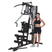 Body Solid G2B G-Series Bi-Angular Home Gym with Multi-Hip Station and Dura-Firm Padded Seat (with lumbar
