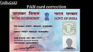 Pan Card steps for PAN card correction | Finbucket |