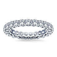 Ageless Round Diamond Eternity Ring in Platinum