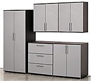 Stack-On GORTA-SET-DS 6-Piece Steel Construction, Ready to Assemble Garage Storage Set