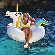 GoFloats Unicorn Party Tube Inflatable Raft