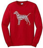 Labrador Retriever Word Art Dog Puppy Owner Gift Long Sleeve T-Shirt