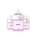 Philips Avent 4oz Natural Feeding Bottle - 3 pk, Pink