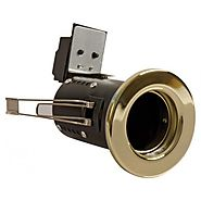 Fire Rated Downlight GU10 Fixed - Brass Finish