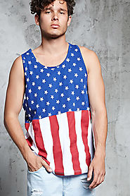 American Flag Print Tank Top $10 @ Forever 21