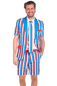 Uncle Fam Short Sleeve Suit $95 @ Tipsy Elves