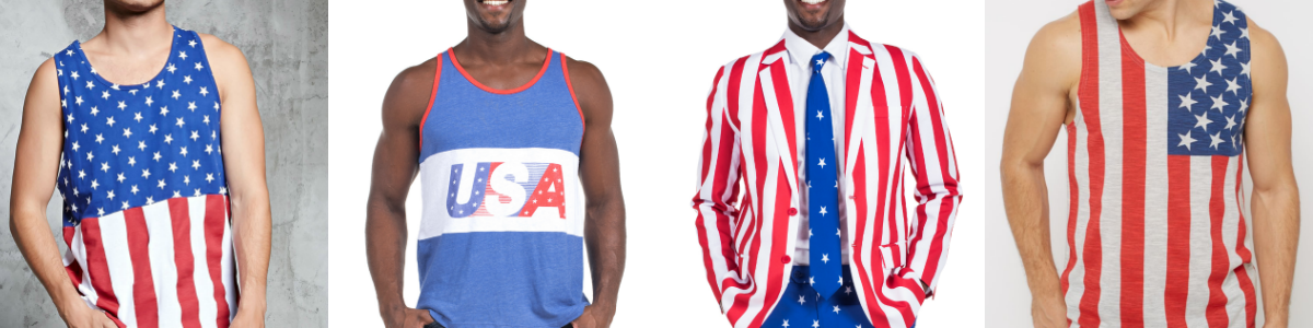 Headline for 20+ Patriotic Men's Fashion Ideas Perfect for the 4th of July
