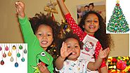 EASY WAY TO DECORATE WITH KIDS| KIDS DECORATING CHRISTMAS TREE| EVELYN KLOMPMAKER