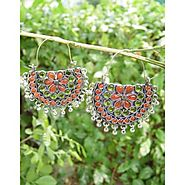 Giftpiper Afghani Earrings/Chandbalis in Alloy Metal