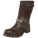 FRYE Women's Rogan Engineer Studded Boot ,Dark Brown,6.5 M US