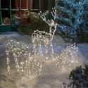 Animated Lighted Reindeer Family Set 3 Christmas Yard Decoration Outdoor