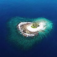 heart-shaped island in Indonesia