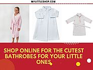 Shop Online for the Cutest Bathrobes for your Little Ones