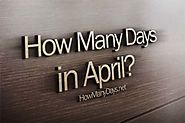 How Many Days are in April 2018?