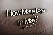 How Many Days are in May 2018?