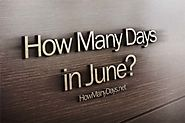 How Many Days are in June 2017?