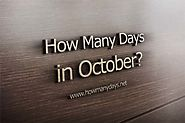 How many days are in October 2017?