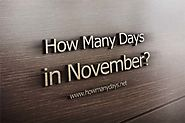 2017-How Many Days in November?