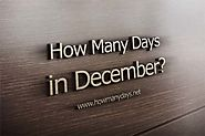 How Many Days are in December 2017?