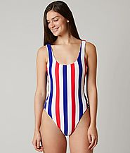 Bikini Lab Red White & True Swimsuit $65 @ Buckle