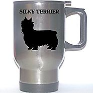 """Silky Terrier"" Dog Stainless Steel Mug"