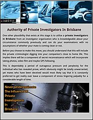 Authority of Private Investigators In Brisbane