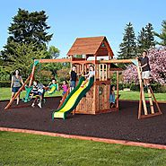 Leisure Time Products Saratoga Cedar Swing/Play Set $799 @ Sam's Club
