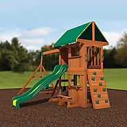 Backyard Discovery Somerset All Cedar Wood Playset Swing Set $699 @ Amazon