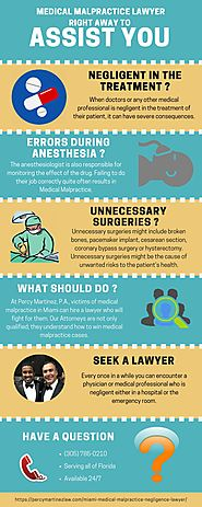 Medical Malpractice Infographic - Percy Martinez Law Office
