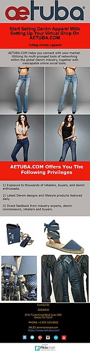 Start Selling Denim Apparel With Setting Up Your Virtual Shop On AETUBA.COM