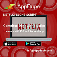 Netflix clone script | Video streaming app for iOS and Android