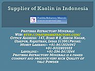 Supplier of Kaolin in Indonesia