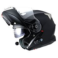 Flip Up Helmet Matt Black with Bluetooth