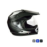 Bluetooth Helmet Moto Matte Black Plain @ 700/- Off