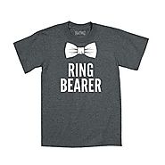 Ring Bearer Bowtie Tuxedo Hipster Wedding Bridal Party Fashion Toddler T-Shirt