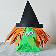 Stuffed Paper Bag Witch Craft