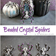 Beaded Crystal Spiders