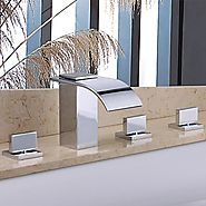 Chrome Finish Contemporary Handshower Shower Faucet