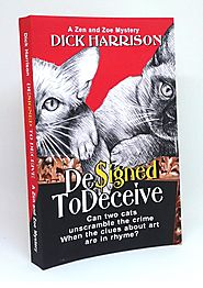 DESIGNED TO DECEIVE Can two cats unscramble the crime When the clues about art are in rhyme?