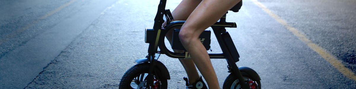Headline for SwagCycle Electric Bike: An affordable, compact, 0 emissions, personal transportation device!