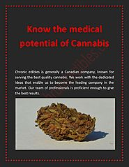 Know the medical potential of Cannabis