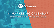 CoSchedule - The #1 Marketing Calendar - @CoSchedule
