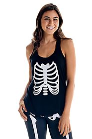 Women's Skeleton Tank Top @ Tipsy Elves