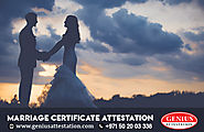 Marriage Certificate Attestation | Marriage certificate attestation procedures for UAE