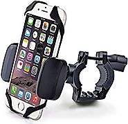 Bike & Motorcycle Cell Phone Mount - For iPhone 6 (5, 6s Plus), Samsung Galaxy Note or any Smartphone & GPS - Univers...